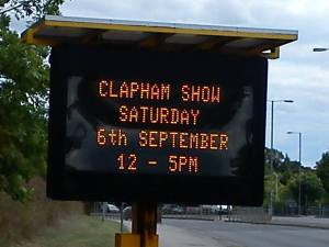 clapham show highways board